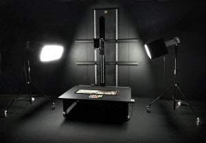 TTI 4060 copy stand with vacuum board and NorthLight HID lights